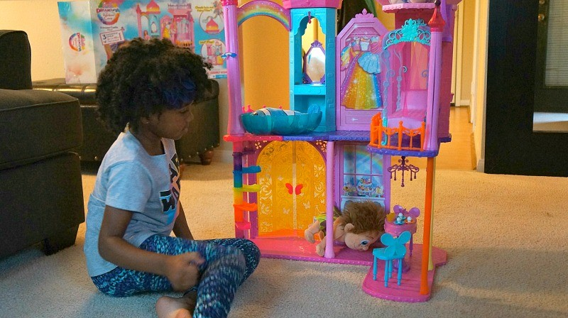 Playing with the Barbie Rainbow Cove Princess Castle Playset