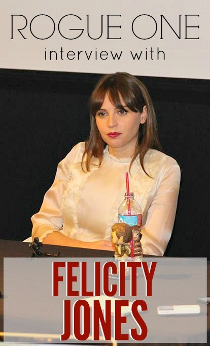 Felicity Jones plays Jyn Erso in Rogue One Star Wars movie - Press day at Lucasfilm HQ, San Francisco, CA