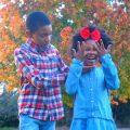 Happy children dressed in Oshkosh B'gosh kids holiday styles