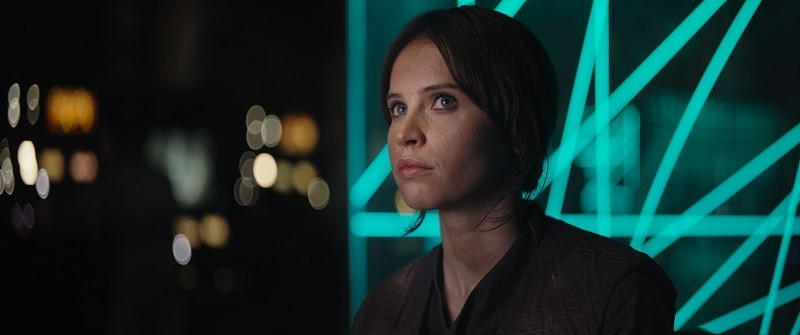 Jyn Erso in the movie Rogue One: A Star Wars Story
