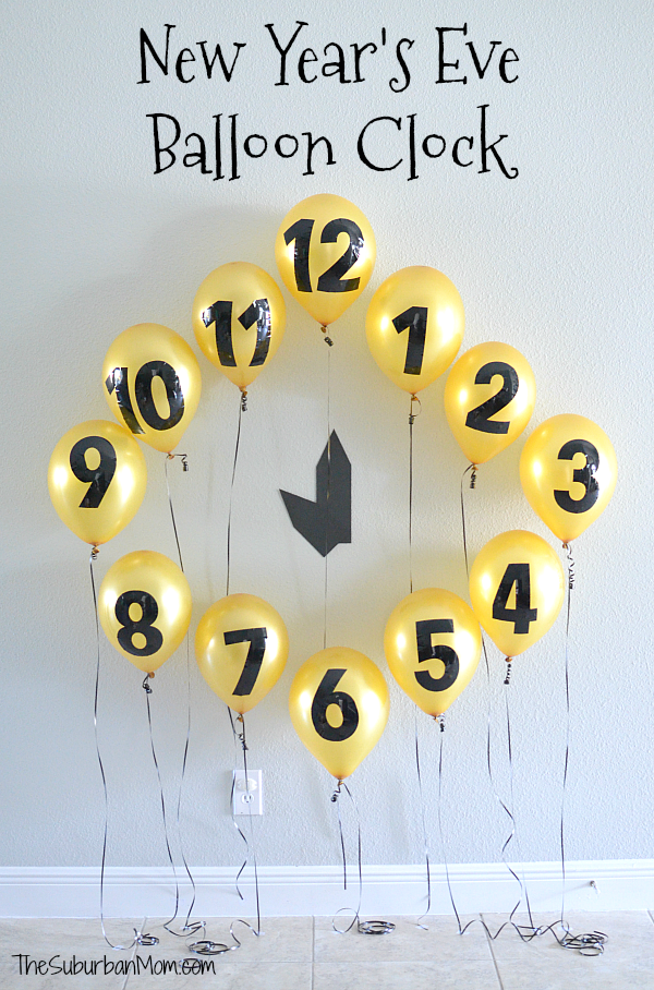 New years Eve Balloon Clock Countdown