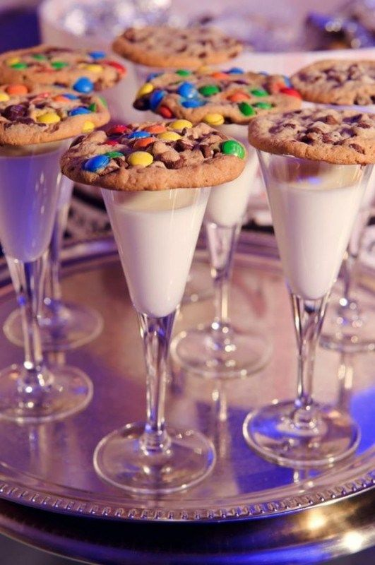 New Years eve party ideas for kids, cookies and milk toast