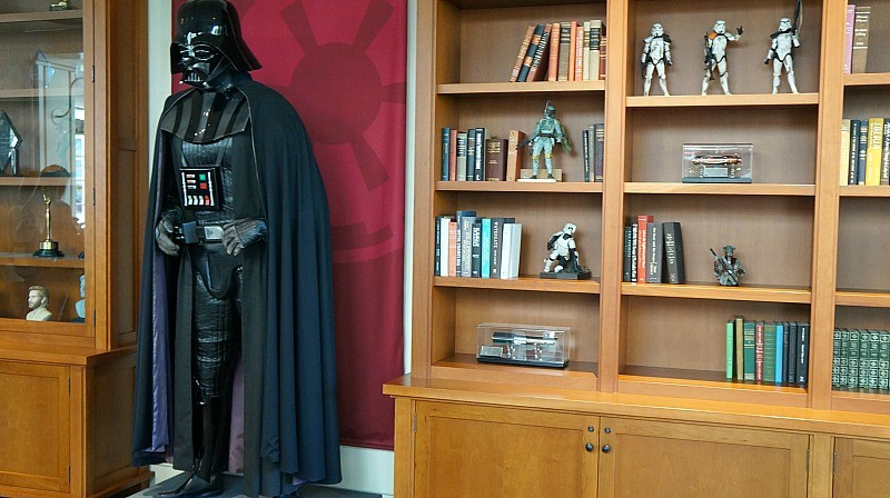 Photos of ucasfilm headquarters, Star Wars Darth Vader stands in the lobby