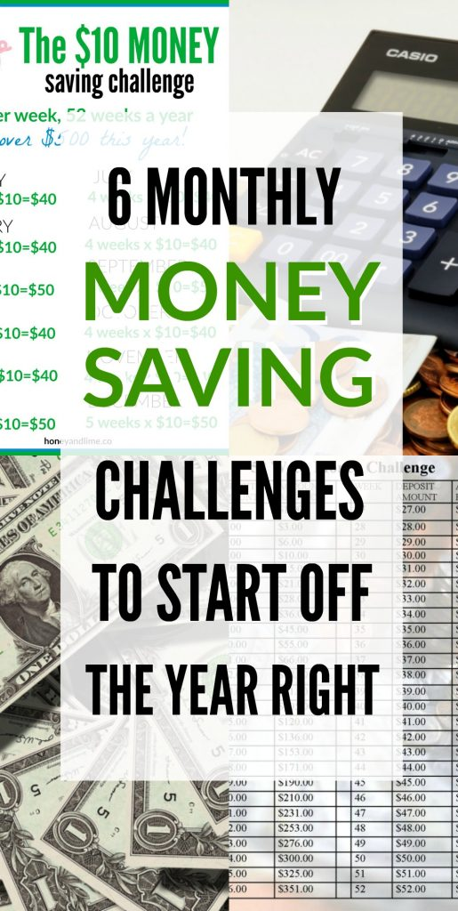 Try one of these 6 monthly money saving challenges to start the new year off right!