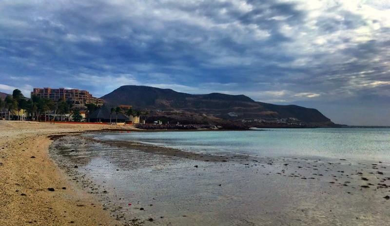 Stay at the Costa Baja Resort in La Paz Mexico, beach in front of the Costa Baja Resrot and Spa, La Paz, Mexico