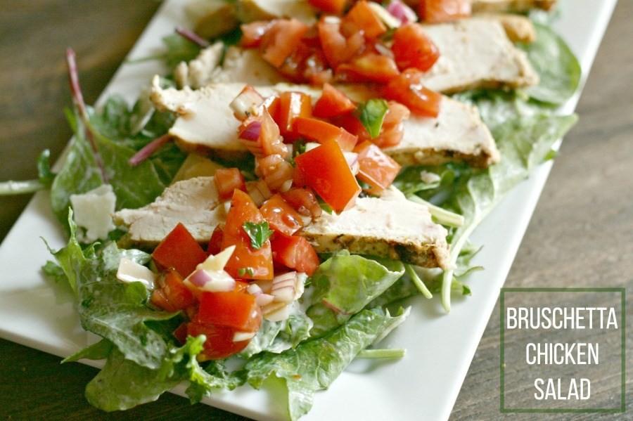 Grilled Chicken Bruschetta Salad, photo: Dash of Evans