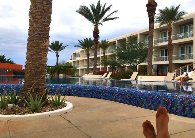 The pool at the Costa Baja Resort and Spa, La Paz, Mexico