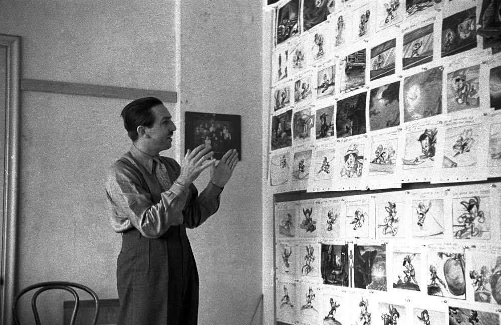 Walt at the Pinocchio storyboard meeting; collection of the Walt Disney Archives Photo Library, © Disney