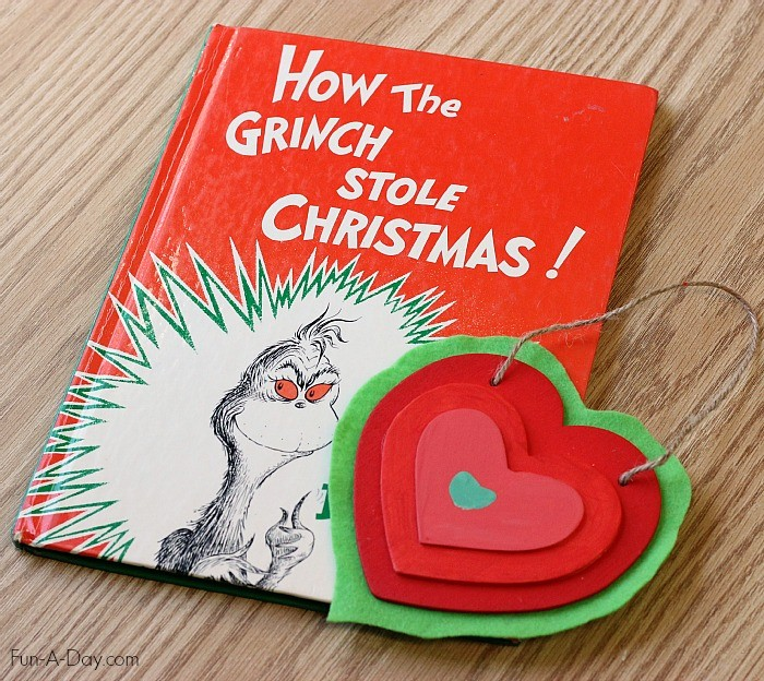Christmas ornament inspired by The Grinchs growing heart, Fun A Day