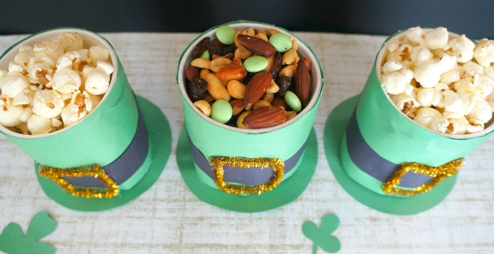 Cute St- Patrick's Day leprechaun hat cups snack holders
