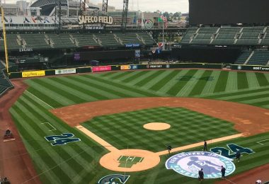 View of Seattle Mariners Safeco Field from the press box