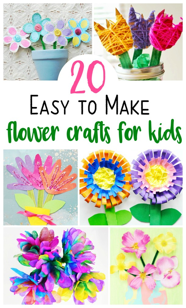 20 Super Cute and Easy Flower Crafts for Kids To Make This Spring