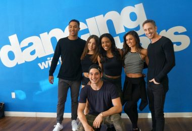 Dancing with the Stars cast members Brittany Cherry, Britt Stewart, Hayley Erbert, Brandon Armstrong, Alan Bersten, Artur Adamski