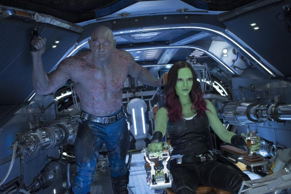 Guardians of the Galaxy Vol 2, Drax and Gamora