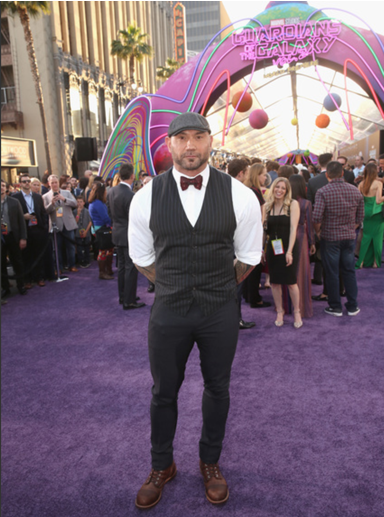 Marvel's Guardians of the Galaxy World premiere in Los Angeles, CA, Dave Bautista
