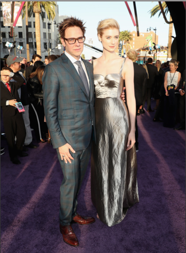 Marvel's Guardians of the Galaxy World premiere in Los Angeles, CA Director James Gunn and Elizabeth Debicki