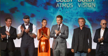 Marvel's Guardians of the Galaxy World premiere in Los Angeles, CA, cast on stage at the Dolby Theater
