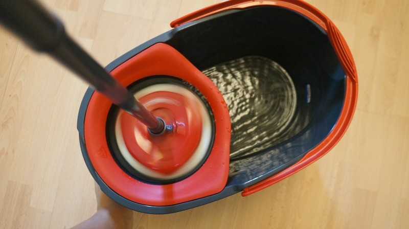 Mop in the spinning basket, O-Cedar EasyWring™ Spin Mop & Bucket System