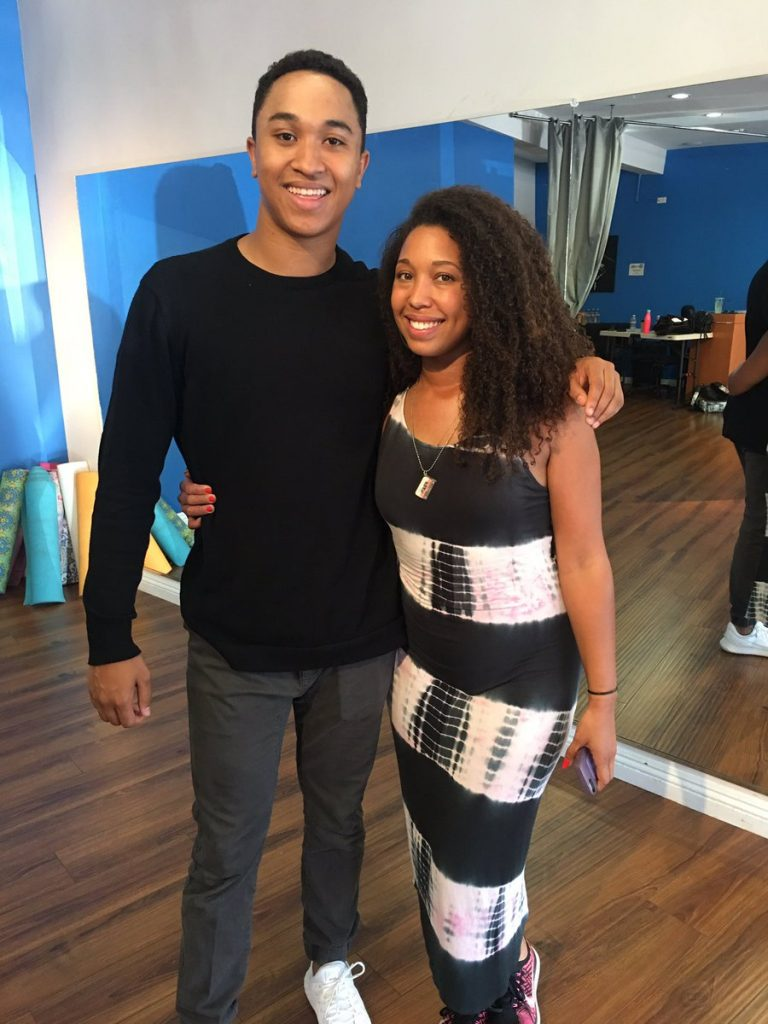 Salsa with the Dancing with the Stars cast, Brandon Armstrong