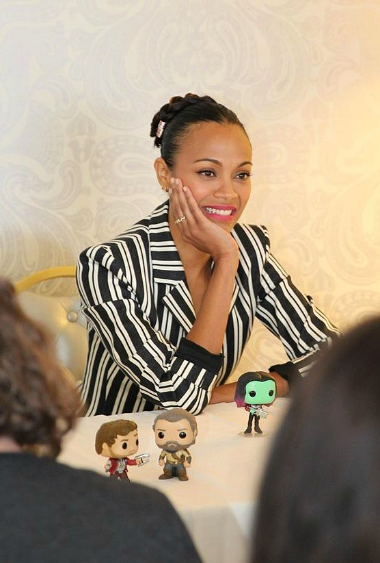 Zoe Saldana at Marvels Guardians of the Galaxy vol 2 press day, The London Hotel, Los Angeles, CA