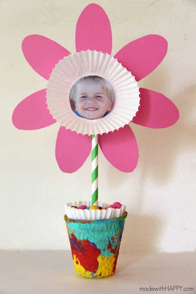 Photo Paper Flower Craft/Made With Happy