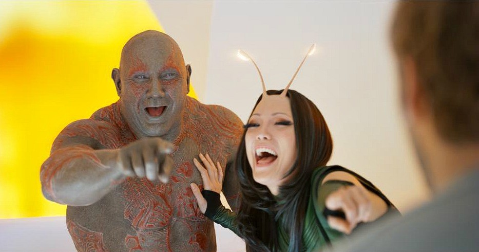 Guardians of the Galaxy Vol 2 Drax and Mantis movie photo