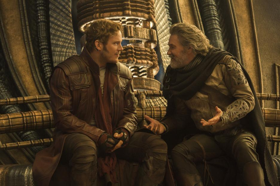 Guardians of the Galaxy Vol 2 EGO and Star Lord Peter Quill's dad movie photo
