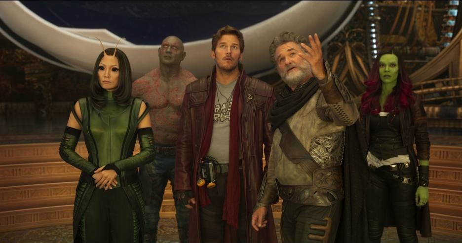 Guardians of the Galaxy Vol 2 EGO and all of the Guardians