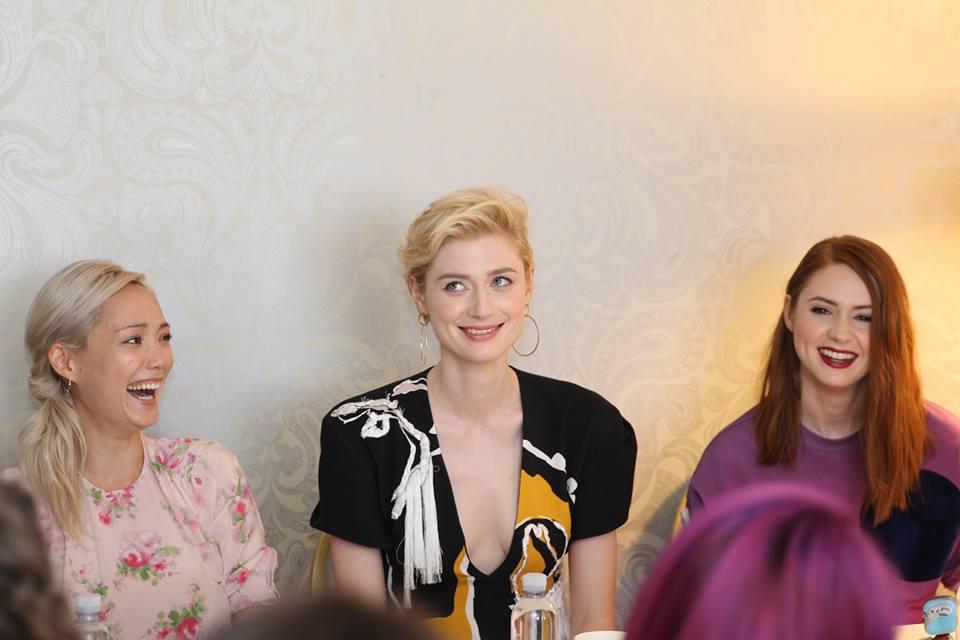 Guardians of the Galaxy Vol 2 movie interviews with Pom Klemetieff, Elizabeth Debicki, Karen Gillan