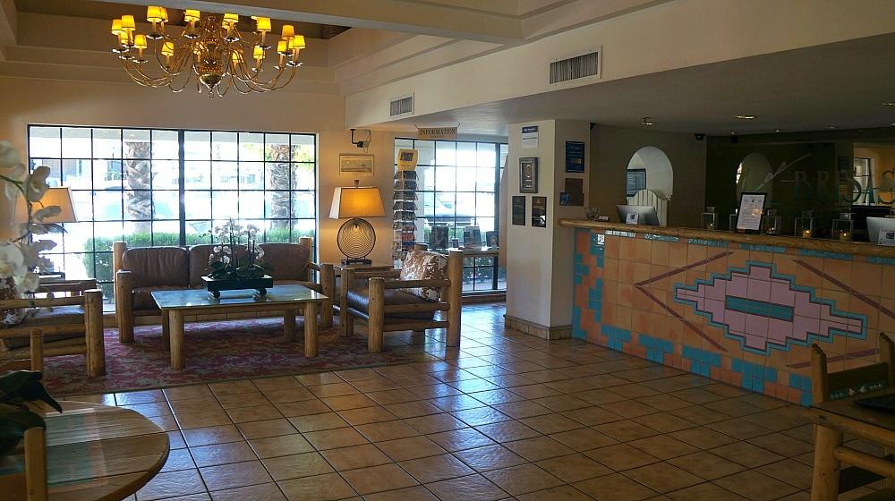 Lobby at the Best Western Las Brisas in Palm Springs, CA