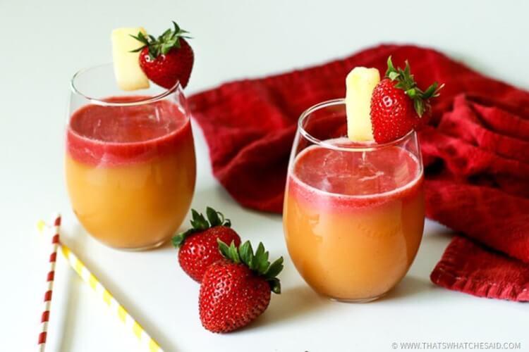 Pineapple Strawberry flavored margarita recipes