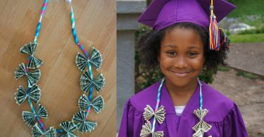 DIY Graduation Gifts- Learn How To Make A Money Lei Tutorial. this is one of our favorite creative ways to gift money