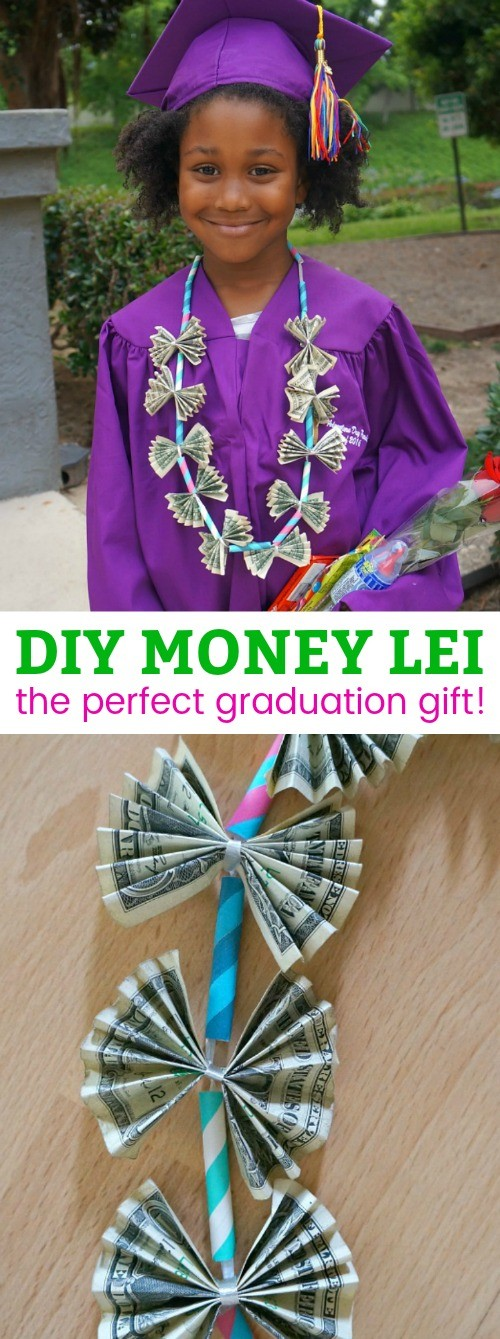 DIY Graduation Gifts- Learn How To Make A Money Lei Tutorial. This is one of our favorite creative ways to gift money!