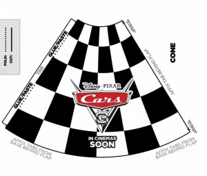 Disney Cars 3 Make your own race cones