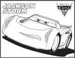 Disney Cars 3 printable coloring pages Jackson Storm