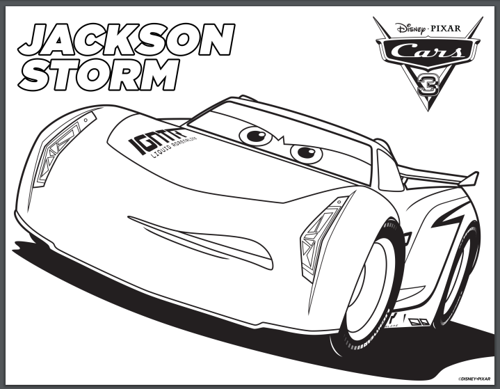 Disney Cars 12 printable coloring pages Jackson Storm - Honey   Lime