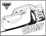 Disney Cars 3 printable coloring pages Lightning McQueen