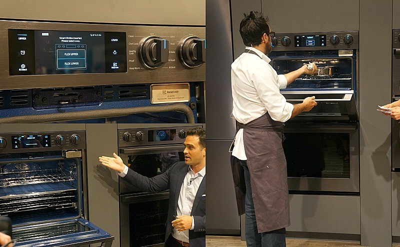 Display of the Samsung Chef Collection Wall Ovens