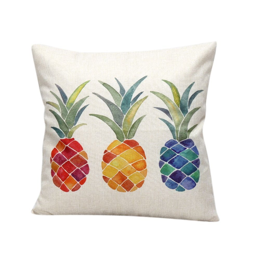 Katara colorful pineapple throw pillow