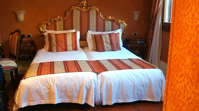 Venetians decorated rooms at Ca Gottardi boutique hotel in Venice Italy