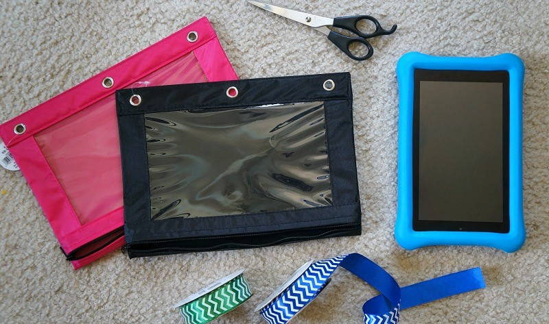 Materials needed to make a DIY tablet holder for car headrest