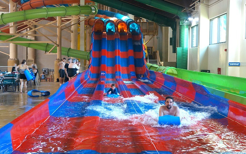 Mountain Edge Raceway water slide fun at Great Wolf Lodge in Garden Grove, California