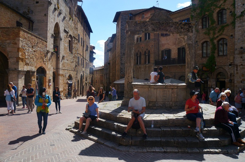 San Gimignano old medieval city in Tuscany Italy