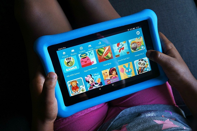 The Amazon Fire 7 Kids Edition tablet has tons of entertainment - fun games, apps, videos, and web pages that are kid safe!