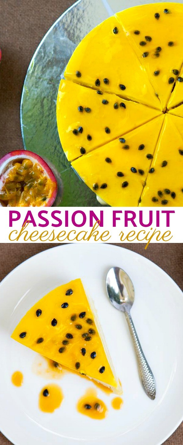 This Tropical Passion Fruit Cheesecake Recipe Is A Sweet and Tangy Delight