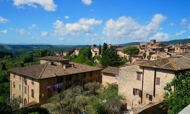 Tuscany Italy view from San Gimignano medieval village