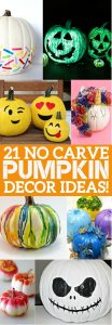 21 no carve pumpkin decorating ideas that you 39 ll love this halloween - Charming halloween decoration using love pumpkin carving ...