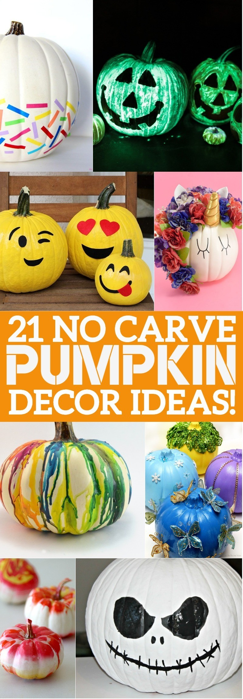 21 no carve pumpkin decorating ideas youll love these ways to decorate pumpkins here comes halloween