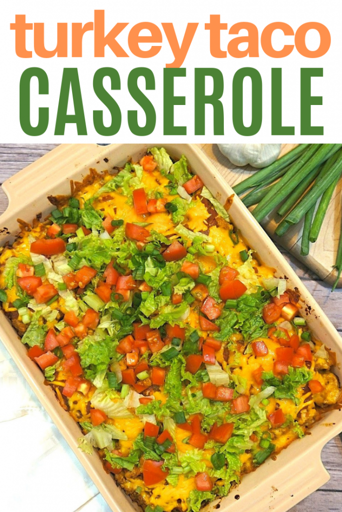 Easy turkey taco casserole bake recipe