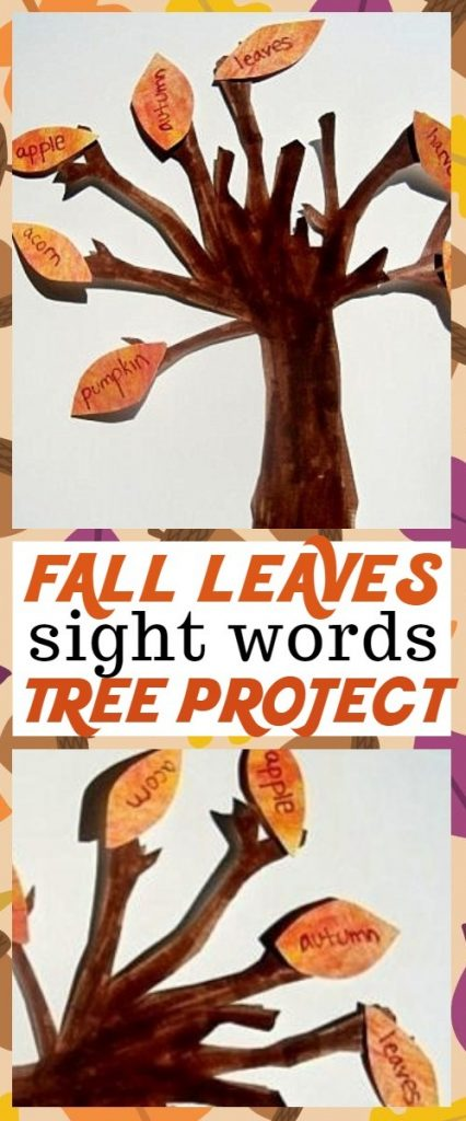 Educational Fall Crafts for Kids - We Love This Fall Leaves Sight Words Tree